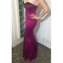 Vestido Fiesta Largo Strapless Violeta
