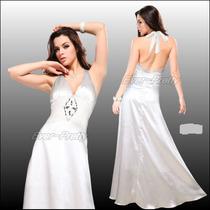 Vestido De Novia Blanco Largo De Saten 3xl