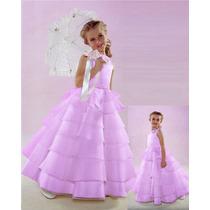 Espectacular Vestido De Fiesta !!! Divino !! T-2-3-4-5-6