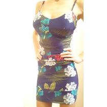 Vestido De Lycra Floreado Al Cuepro Super Sexi