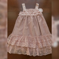 Vestido Largo Nena Fiesta Encaje Puntilla Importado Usa