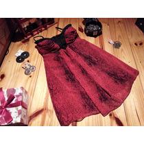 Vestido Ona Saenz Corto Animal Print Rojo De Fiesta, 15, Etc
