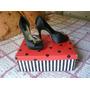 Divinos Zapatos Las Oreiro - Número 40 - Negros Moño Dorado