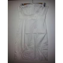 Vestido Peuque Strapless Gabardina Elastizada Con Moño Envio