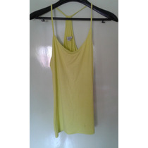 Musculosa Modal Con Lycra Color Amarillo Escote En V Talle M