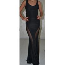 Vestido Largo Import Comodin Spandex Sexy Transparencia