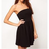 Vestido Strapless Corto Casual Coleccion Primavera Verano