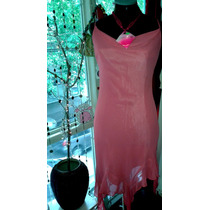 Vestido Gasa Rosa Dior T S.envio Gratis