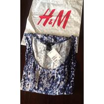 Vestido Muculosa Modal H&m Importado Animal Print