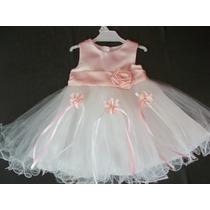 Vestido Nena Ideal Bautismo Cortejo Cumpleaños