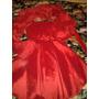 Vestido De Fiesta Rojo Con Chalina
