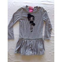 Betty Boop... Hermoso Vestido Manga Larga... Talle 4 Años