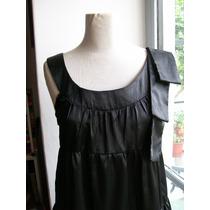 Vestido Negro De Raso - Talle M - Nuevo!!