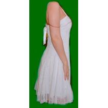 Vestido Blanco Fiesta Civil Novias, Ajustable En Espalda