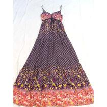 Vestido Solero Largo Con Breteles Nuevo Talle M