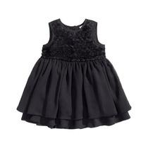 Vestido De Nena De Gasa Y Rosas H&m - Talle 2 Años