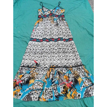Vestido Solero Largo Mujer Nuevo Talle L