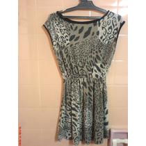 Mini-vestido-remeron-casaca Animal Print Talle M