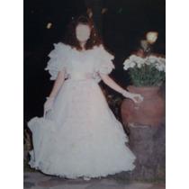 Vestido 15 Años Blanco Con Detalles En Rosa