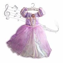 Disfraz Vestido Rapunzel Enredados Tangled Nuevo Disney Usa