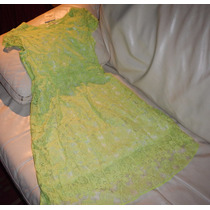 Vestido Corto Verde Bordado Civil Vestir Importado