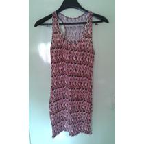 Vestido Modal Con Lycra Multicolor Talle M