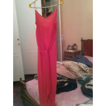 Vestido Largó De Fiesta Color Salmón Talle 44