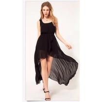 Vestido De Fiesta Negro Elegante,egresados,madrina Importado