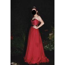 Vestido De 15 Años Bordo (un Solo Uso)