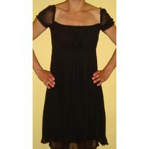Vestido De Noche O Fiesta Color Negro Corto Marca Zara