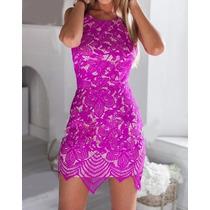 Vestido De Fiesta Importado De Encaje, Hermoso!!!