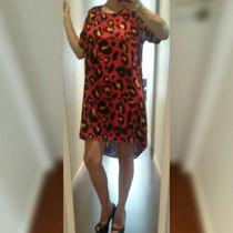 Vestido Corto Remeron Seda Estampada