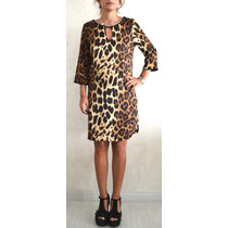 Vestido Top Tunica Folk Seda Blusa Animal Comodin Importado