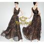 Vestido Largo Solero Leopard Irregular Importado Art.3003