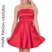 Vestido De Fiesta Campana Colores Talle S-m-l-xl Moda Pasión