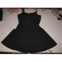 Delicado Vestido De Raso Negro