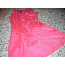 Vestido De Gasa Color Salmon.talle 46