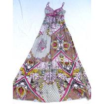 Vestido Solero Largo Con Breteles Nuevo Talle S