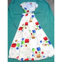 Vestido De Diseño Largo Mujer Con Tajo Nuevo Talle Xs