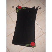 Vestido Allo Martinez Jersey De Algodon Bordado Talle 1