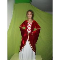 Vestido Largo Disfraz Estilo Medieval