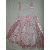 Vestido Niña Talle 6 - 8 Fiesta Disfraz Fino Impecable