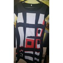 Vestido, Algodon Con Lycra, Estampa Diseño. M