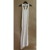 Vestido Las Pepas Talle 00 Largo Blanco