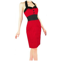 Vestido Pinup Heart And Roses Pencil