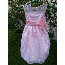 Elegante Vestido Para Fiesta. Talle 3. Color Rosa.