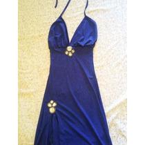 Vestido Largo Fiesta Azul Francia Navidad Año Nuevo