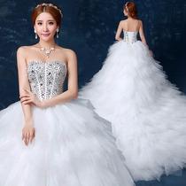 Vestido De Novia Nuevo 2016 C/cola(directo China)#1345