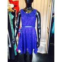 Vestido Encaje Con Espalda Descubierta - Varios Colores