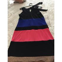 Vestido De Tres Colores Corto